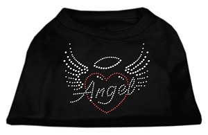 Angel Heart Rhinestone Dog Shirt Black XL (16)