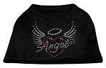 Angel Heart Rhinestone Dog Shirt Black XS (8)