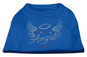 Angel Heart Rhinestone Dog Shirt Blue Lg (14)