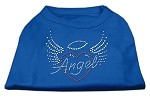 Angel Heart Rhinestone Dog Shirt Blue XS (8)