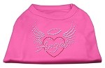 Angel Heart Rhinestone Dog Shirt Bright Pink XS (8)
