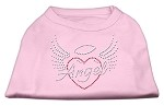 Angel Heart Rhinestone Dog Shirt Light Pink XS (8)