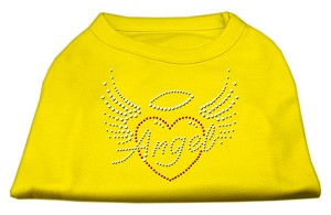 Angel Heart Rhinestone Dog Shirt Yellow XXL (18)