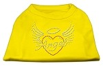 Angel Heart Rhinestone Dog Shirt Yellow XS (8)