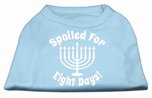 Spoiled for 8 Days Screenprint Dog Shirt Baby Blue XS (8)