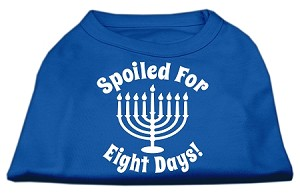 Spoiled for 8 Days Screenprint Dog Shirt Blue Med (12)