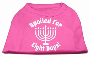 Spoiled for 8 Days Screenprint Dog Shirt Bright Pink Med (12)