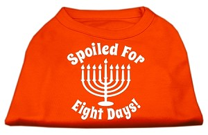 Spoiled for 8 Days Screenprint Dog Shirt Orange Med (12)