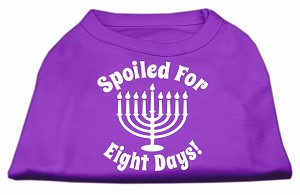 Spoiled for 8 Days Screenprint Dog Shirt Purple XXXL (20)