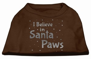 Screenprint Santa Paws Pet Shirt Brown XXXL (20)