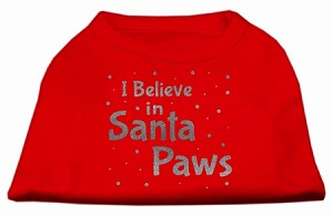 Screenprint Santa Paws Pet Shirt Red Lg (14)