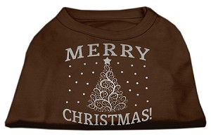 Shimmer Christmas Tree Pet Shirt Brown Med (12)