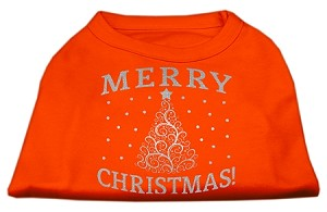 Shimmer Christmas Tree Pet Shirt Orange XXXL (20)