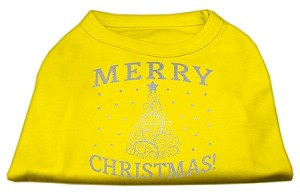 Shimmer Christmas Tree Pet Shirt Yellow Med (12)