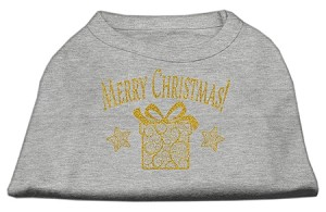 Golden Christmas Present Dog Shirt Grey Sm (10)