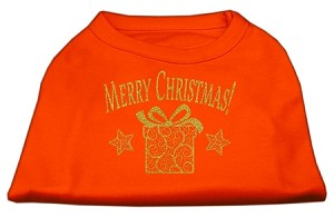 Golden Christmas Present Dog Shirt Orange XXXL (20)