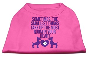 Smallest Things Screen Print Dog Shirt Bright Pink XL (16)