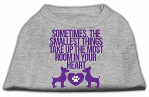 Smallest Things Screen Print Dog Shirt Grey Med (12)