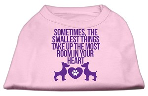 Smallest Things Screen Print Dog Shirt Light Pink XS (8)