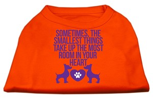 Smallest Things Screen Print Dog Shirt Orange XL (16)