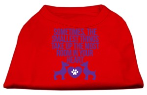 Smallest Things Screen Print Dog Shirt Red Sm (10)