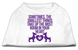 Smallest Things Screen Print Dog Shirt White XS (8)