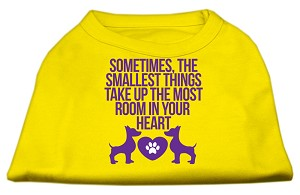 Smallest Things Screen Print Dog Shirt Yellow Sm (10)