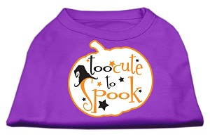 Too Cute to Spook Screen Print Dog Shirt Purple XS (8)