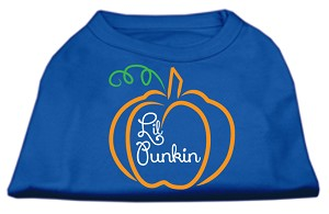 Lil Punkin Screen Print Dog Shirt Blue XS (8)