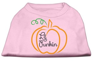 Lil Punkin Screen Print Dog Shirt Light Pink Med (12)