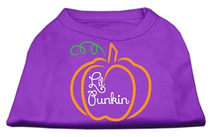 Lil Punkin Screen Print Dog Shirt Purple XS (8)