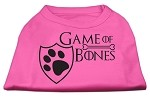 Game of Bones Screen Print Dog Shirt Bright Pink Med (12)
