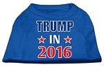 Trump in 2016 Election Screenprint Shirts Blue XS (8)