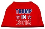 Trump in 2016 Election Screenprint Shirts Red XS (8)
