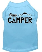 Happy Camper Screen Print Dog Shirt Baby Blue XS (8)