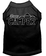 Happy Camper Screen Print Dog Shirt Black XS (8)