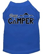 Happy Camper Screen Print Dog Shirt Blue XS (8)