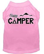 Happy Camper Screen Print Dog Shirt Light Pink XS (8)