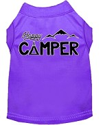 Happy Camper Screen Print Dog Shirt Purple XS (8)