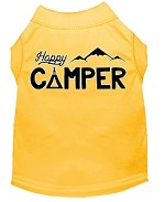 Happy Camper Screen Print Dog Shirt Yellow XS (8)