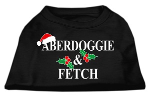 Aberdoggie Christmas Screen Print Shirt Black XS (8)