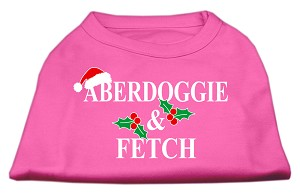 Aberdoggie Christmas Screen Print Shirt Bright Pink XXXL(20)