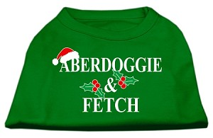 Aberdoggie Christmas Screen Print Shirt Emerald Green Sm (10)