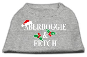 Aberdoggie Christmas Screen Print Shirt Grey XS (8)