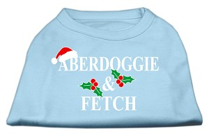 Aberdoggie Christmas Screen Print Shirt Baby Blue XL (16)