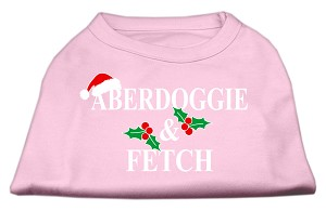 Aberdoggie Christmas Screen Print Shirt Light Pink XS (8)
