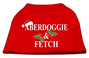Aberdoggie Christmas Screen Print Shirt Red XXXL(20)