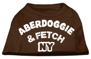 Aberdoggie NY Screenprint Shirts Brown XXXL (20)