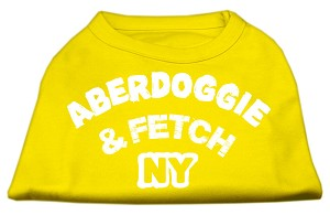 Aberdoggie NY Screenprint Shirts Yellow Sm (10)