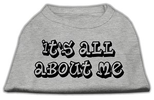It's All About Me Screen Print Shirts Grey Lg (14)